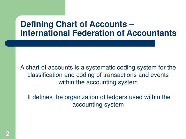 Defining chart of accounts international federation of accountants