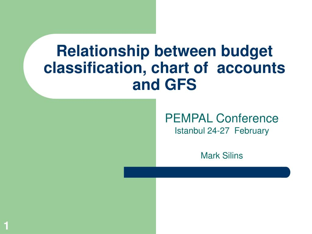 relationship between budget classification chart of accounts and gfs l.