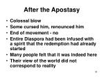 after the apostasy