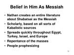 belief in him as messiah