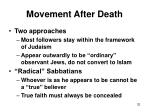 movement after death