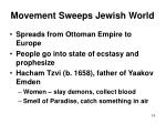 movement sweeps jewish world