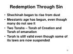 redemption through sin