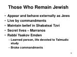those who remain jewish