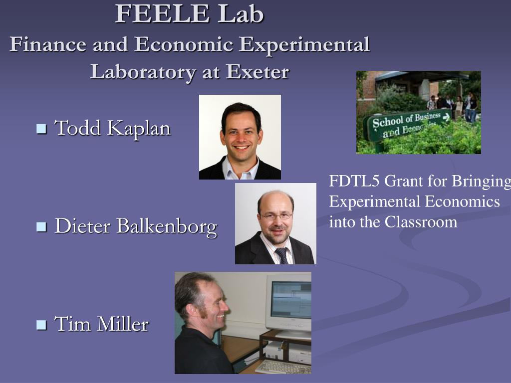 feele lab finance and economic experimental laboratory at exeter l.