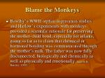 blame the monkeys