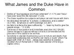 what james and the duke have in common