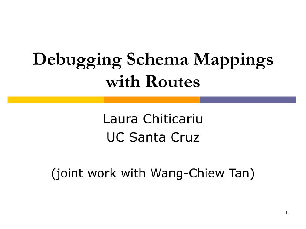 debugging schema mappings with routes l.