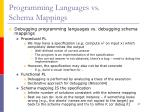 programming languages vs schema mappings