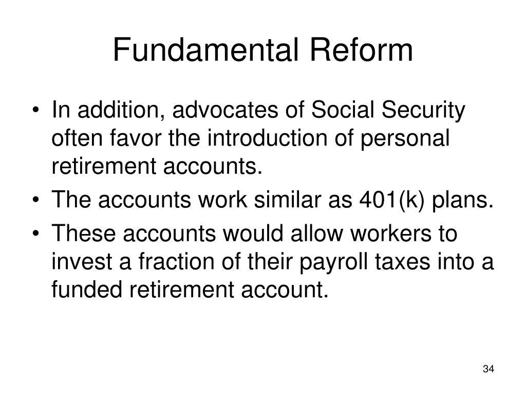 Fundamental Reform