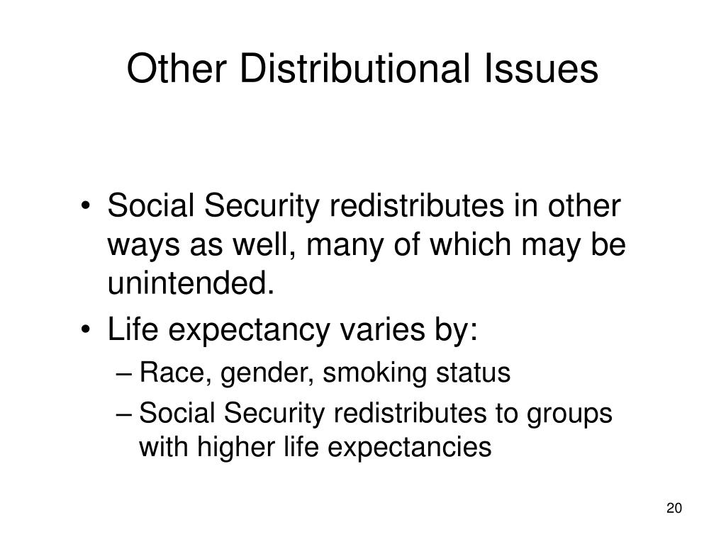 Other Distributional Issues