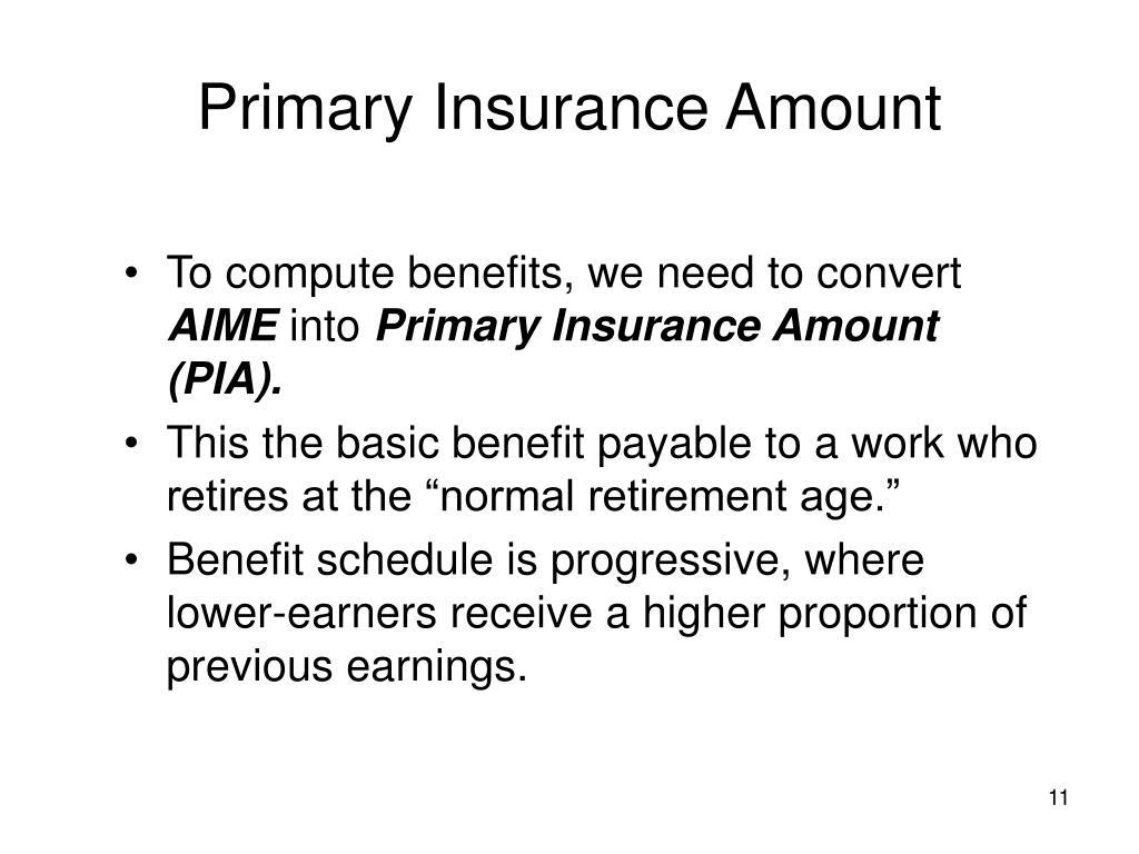Primary Insurance Amount