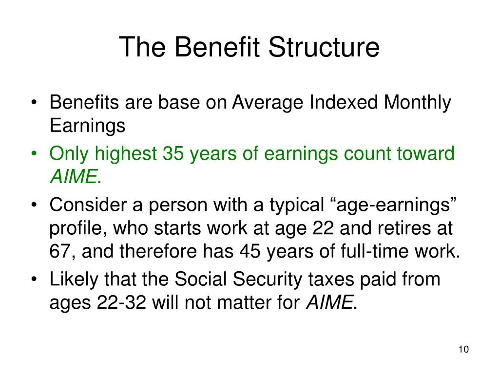 The Benefit Structure