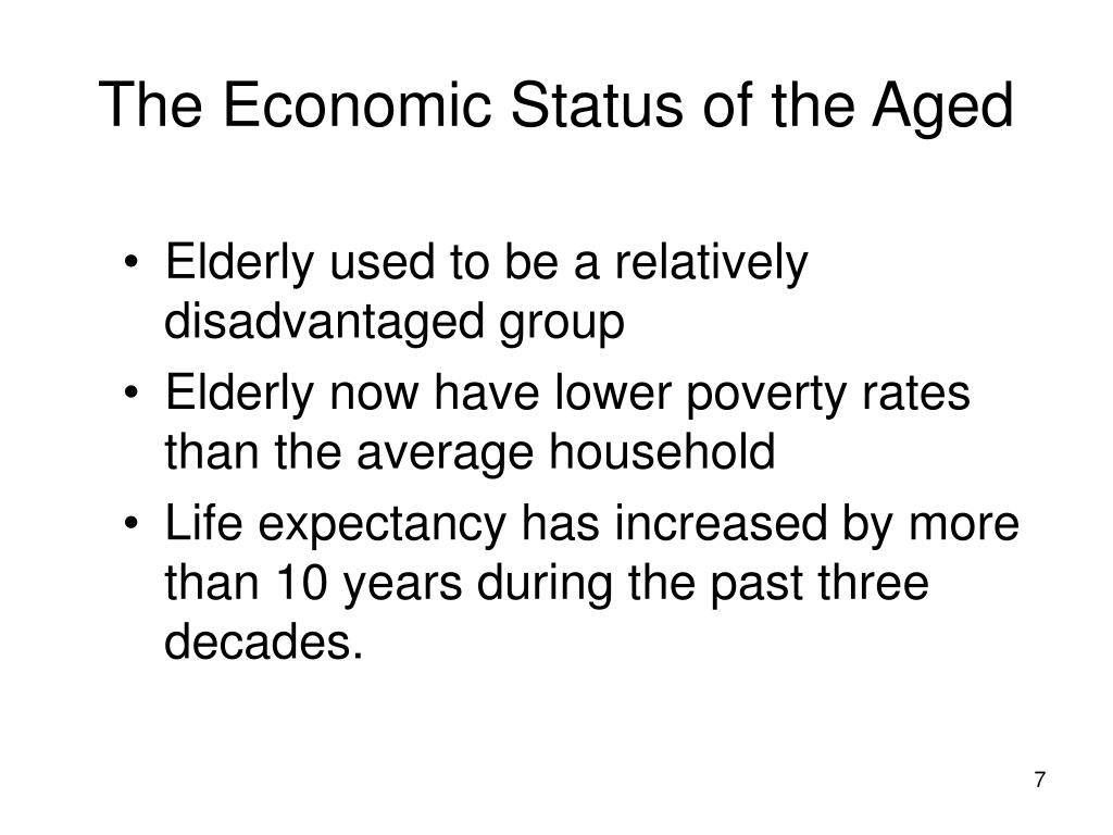 The Economic Status of the Aged