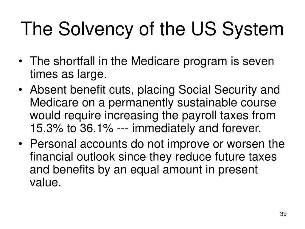 The Solvency of the US System