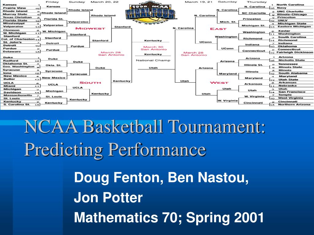 ncaa basketball tournament predicting performance l.