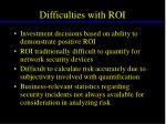 difficulties with roi