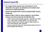 network based ids