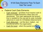 9130 data elements flow to each sub tier level