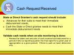 cash request received