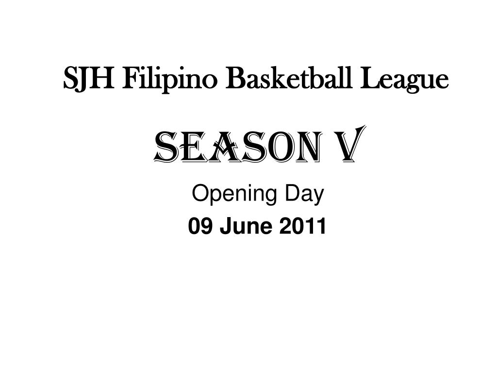sjh filipino basketball league l.