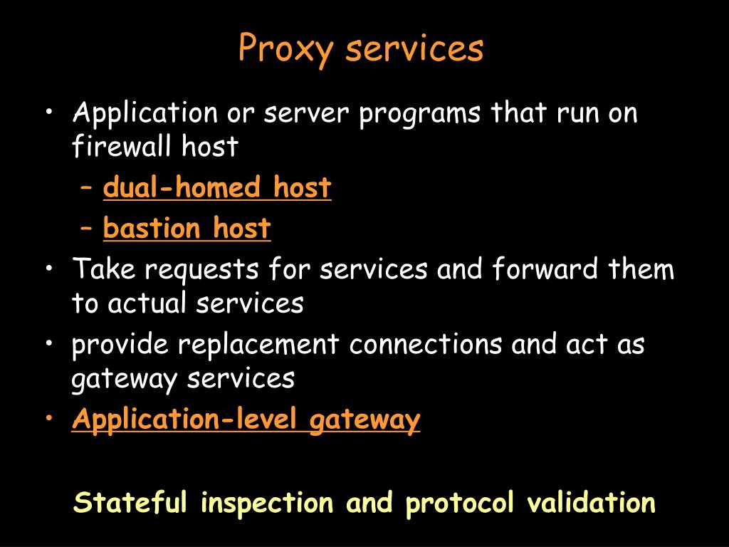 Proxy services