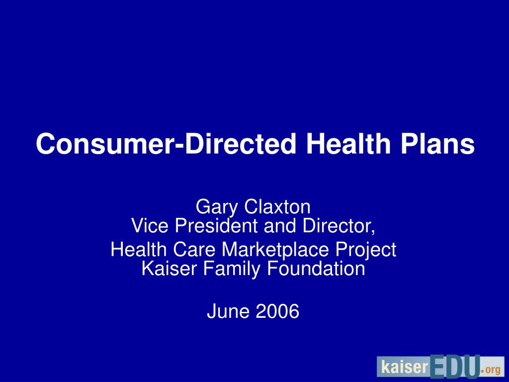 consumer directed health plans l.