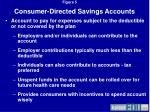 consumer directed savings accounts