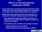 what is a consumer directed health plan cdhp