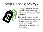credit as a pricing strategy