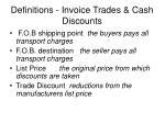 definitions invoice trades cash discounts