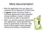 more documentation