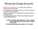 revolving charge accounts