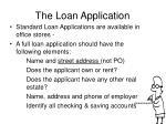 the loan application