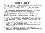 article iii cont