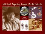 mitchell zephier lower brule lakota