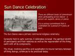 sun dance celebration