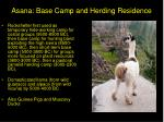 asana base camp and herding residence