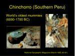 chinchorro southern peru