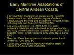 early maritime adaptations of central andean coasts