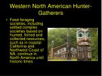 western north american hunter gatherers