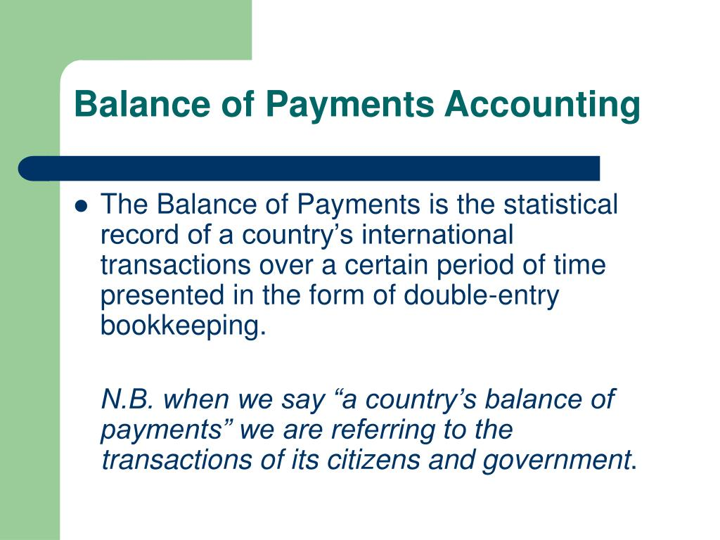 balance of payments accounting l.