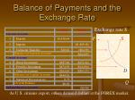 balance of payments and the exchange rate21