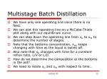 multistage batch distillation12