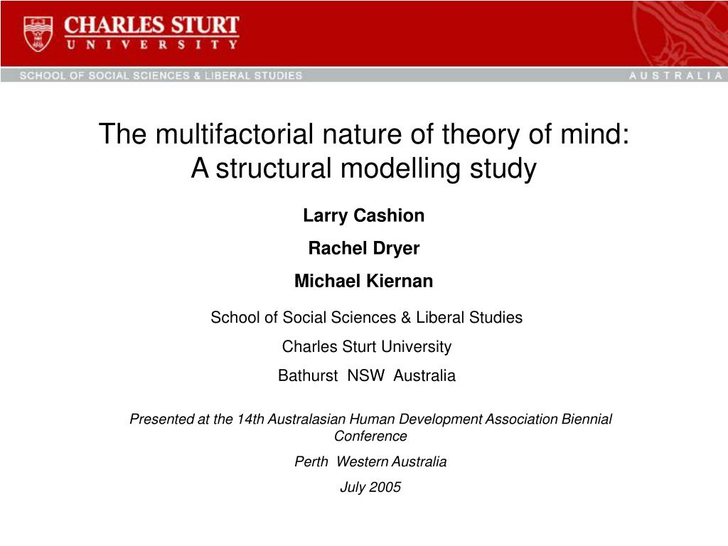 the multifactorial nature of theory of mind a structural modelling study l.