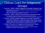 chilean laws for indigenous groups