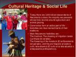 cultural heritage social life