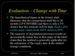 evaluation change with time