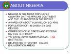 about nigeria