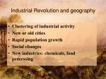 industrial revolution and geography